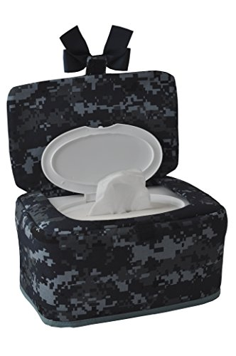 Military-theme Designer Wipes Dispenser, Navy by Pumpkin Pie (Image #1)
