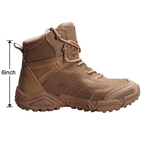 FREE SOLDIER pour Homme Mid Haute durabilité Lacets Bottes Durable Imperméable Armée Combat Chaussures Respirant… 4