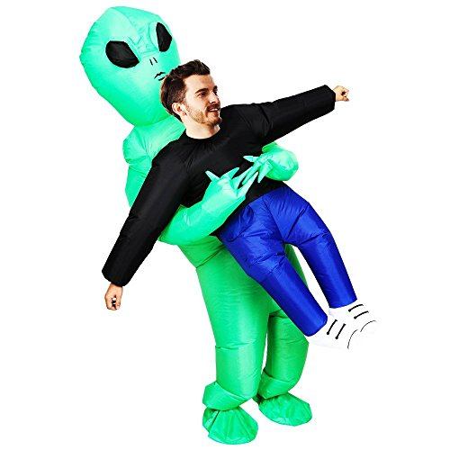 ET Alien Inflatable Suit Unicorn Fancy Costume Halloween Cosplay Fantasy Costume (ET Alien)]()