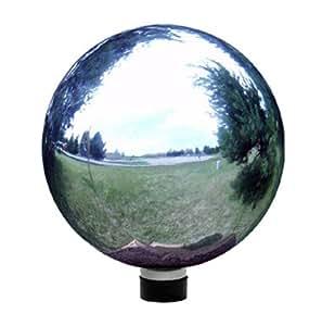 Echo Valley 8102 10-Inch Glass Gazing Globe, Silver