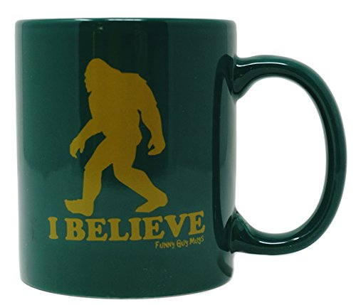 Funny Guy Mugs I Believe Ceramic Coffee Mug, Dark Green, 11-Ounce
