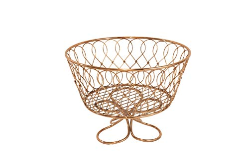 - Inspired Living by Mesa Loop Twist Centerpiece fruit-bowls, ROSE GOLD