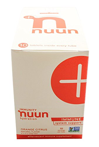 Nuun Immunity: Zinc, Turmeric, Elderberry, Ginger, Echinacea, and Electrolytes for an Anti-Inflammatory and Antioxidant Boost in Immune Support and Hydration, Orange Citrus 8-Pack by Nuun (Image #3)