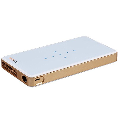 Q6 Ultra-Kompakter Mini Tragbarer Taschen Projektor DLP Mobile Beamer bis zu 1080p für DVD-Player, PC, Handy, Laptop, Smartphone, Tablet PC