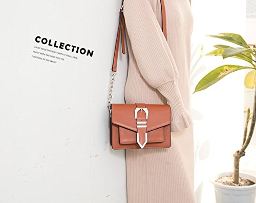 Small Shoulder Belt XDDB Orange Square Messenger Bag Buckle Simple 4wqqXxnF5