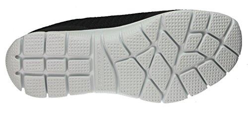 Skechers Damen Sport Empire - Rock um Relaxed Fit Fashion Sneaker Schwarz / Weiß Spiegel
