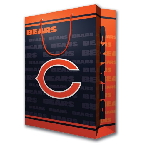 NFL Chicago Bears Gift Bag, Large - Nfl Wrapping Paper