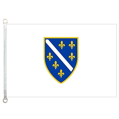 HomeKing Bosnia and Herzegovina Flags Banner 3X5FT 100% Polyester, 110gsm Warp Knitted Fabric ()