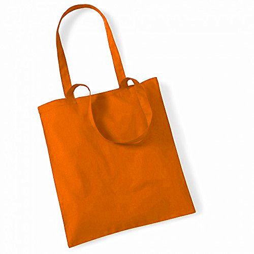"""Westford Mill- Promoción bolsa básica """"Bolsa para la vida""""- capacidad 10 litros Naranja"""