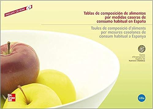 TABLAS DE COMPOSICION DE ALIMENTOS POR MEDIDAS CASERAS DE CONSUMO HABITUAL: Amazon.es: Cesnid,Cesnid: Libros