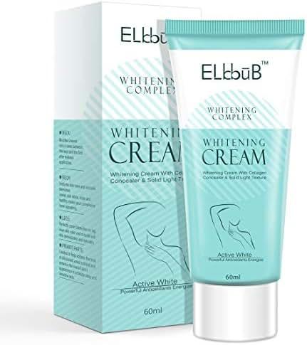 Lightening Cream, Underarm Whitening Cream Effective for Armpits, Knees, Elbows, Neck, Knees, Intimate Parts, Whitens, Nourishes, Repairs and Brighten Skin Moisturizes with Collagen