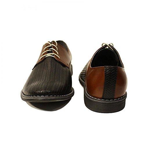 PeppeShoes Pelle da Rilievo Allacciare Handmade Uomo Sera Modello Teofilo in in Nero da Scarpe Italiano Pelle Vacchetta rUxwrCf