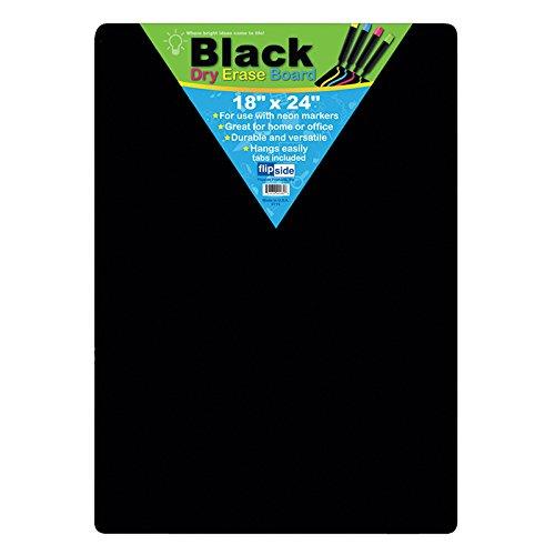 Flipside FLP40085BN Black Dry Erase Boards, 18 X 24, MultiPk 2 Each