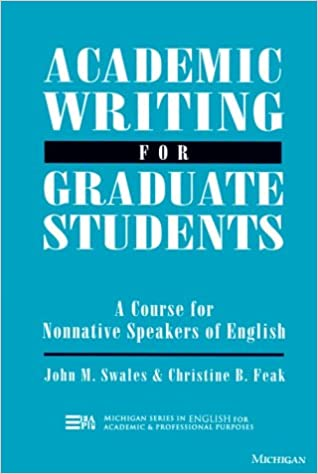 Amazon Academic Writing For Graduate Students Essential Tasks