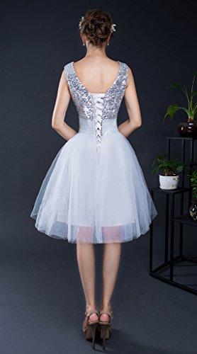 Vimans -  Vestito  - linea ad a - Donna Light Grey 46