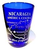 Nicaragua Central America Cobalt Blue Shot Glass