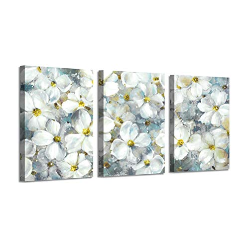 - Abstract View Picture Floral Art: Cherry Blossom Oil Painting Print on Canvas Wall Art for Bedroom ( 16