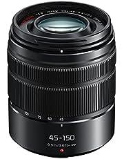 Panasonic LUMIX G Vario 45-150mm F4.0-5.6 ASPH. Micro Four Thirds Telephoto Zoom Lens, Black (H-FS45150EKA)