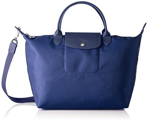 LongchampLe Pliage Neo - Bolso de mano Mujer, color azul, talla 17x28x32 cm (B x H x T)