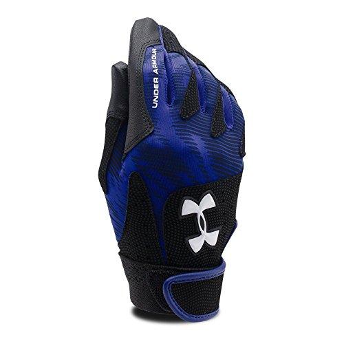 Under Armour Women's Radar III Softball Batting Gloves, Royal/White, Small