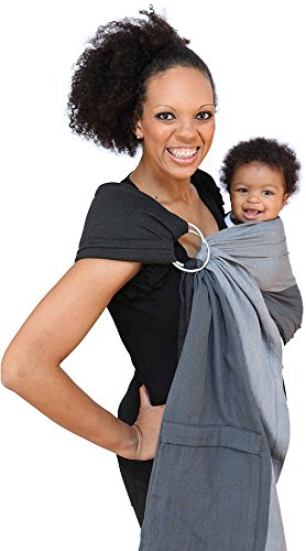 Maya Wrap Lightly Padded Ring Sling Baby Carrier – Asher – Large