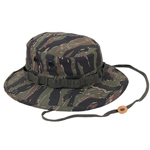 BlackC Sport Wide Brim Boonie Hat Tiger Stripe Camouflage Military