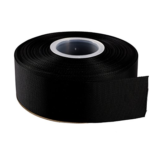 ITIsparkle 11/2 Inch Grosgrain Ribbon 25 Yards-Roll Set For Gift Wrapping Cake Decoration Party Favor Hair Braids Hair Bow Baby Shower Decoration Floral Arrangement Craft Supplies, Black Ribbon