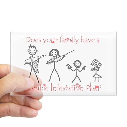 zombie family bumper sticker - 3