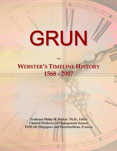 GRUN: Webster's Timeline History, 1568 - 2007