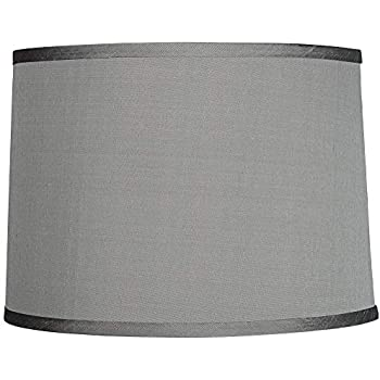 Sydnee Satin Light Gray Drum Lamp Shade 14x16x11 Spider