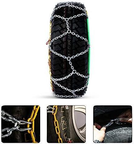 携帯用緊急牽引車のスノータイヤの滑り止めの鎖 タイヤチェーン *2pcs 金属スノーチェーンジャッキアップ気にしないでください TPUバンおよび軽トラック用ユニバーサルフィットタイヤ繰り返し使用 (Size : 245/65×17)