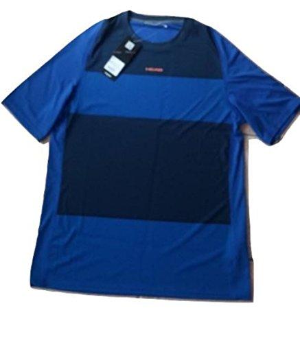 Head Tshirt Striped Man Royal Blu L