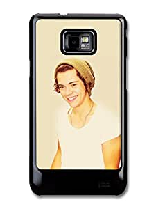 Harry Styles Smile with Hat One Direction 1D Directioners case for Samsung Galaxy S2