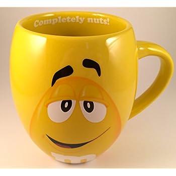 M&Ms Big Face Ceramic Mugs (Yellow)