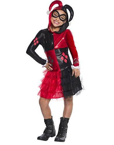Rubie's Costume Girls DC Comics Harley Quinn Costume,