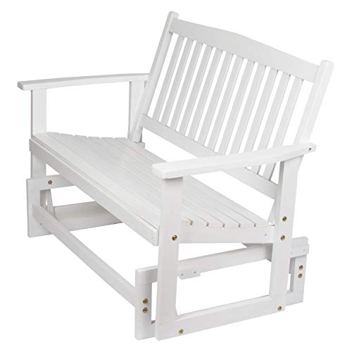 Shine Company Torrey Outdoor Glider Loveseat, White