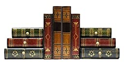 JustNile Classic Book-Alike Decorative Bookends - 6 Drawers Set