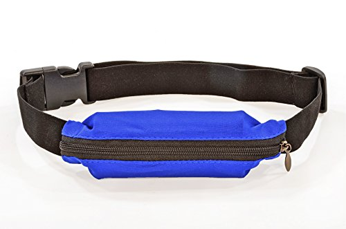 Flexifoil Water Resistant Running Exercise Belt. Weather Proof Waist Pack For Men and Women. Keeps Keys, Cards and Mobile Phones Secure During Workouts. Fully Adjustable, Comfortable and Ideal Gift