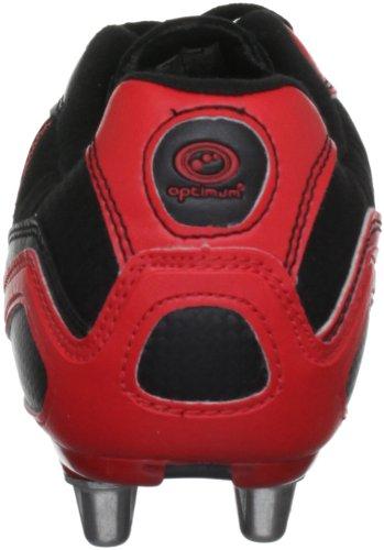 Optimum Velocity - Botas de rugby para hombre negro/ rojo