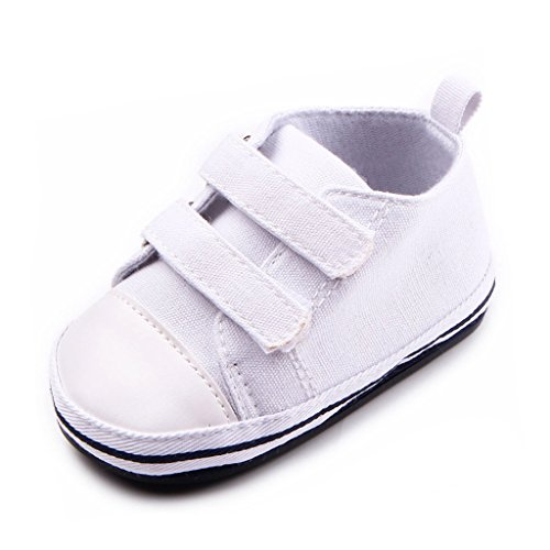 Annnowl Baby Sneakers Canvas Shoes 0-18 Months (12-18 - Infant Canvas Shoes White