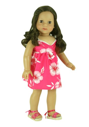 Fits American Girl Doll, 18 Inch Doll Clothing/Clothes of Hawaiian Print Baby Doll Dress, Baby & Kids Zone