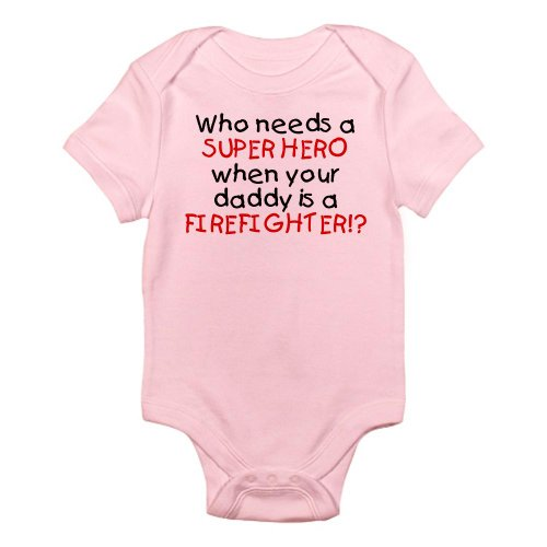 FIREFIGHTER Infant Bodysuit - Cute Infant Bodysuit Baby Romper
