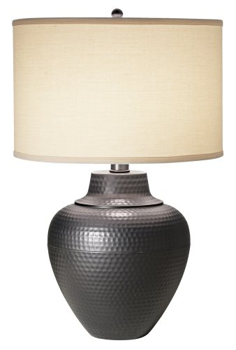Hammered Metal Table Lamp - 4