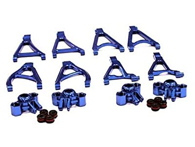 Integy RC Hobby T3485BLUE Billet Machined Stage 1 Conversion Set for 1/16 Traxxas E-Revo & Summit