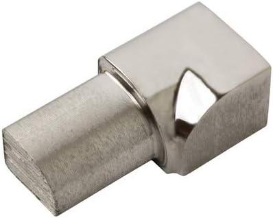 Viertelkreis Edelstahlschiene Fliesenprofil Fliesenschiene Edelstahl V2A L250cm 8mm gl/änzend