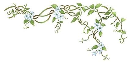 Amazon Com Flower Vine Wall Stencil Sku 2178 By Designer Stencils