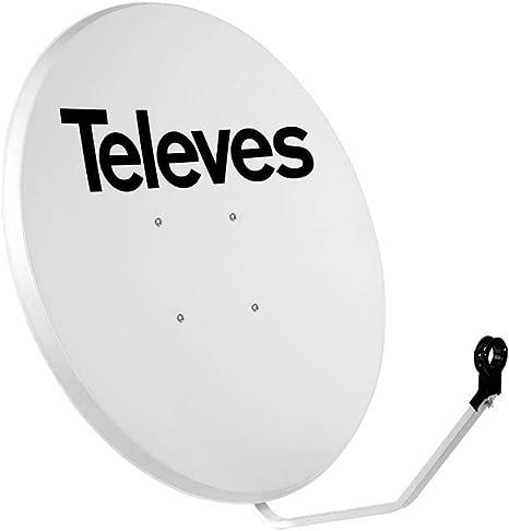 Televes 753401 - Antena parabolica hierro 1000 blanco: Amazon ...