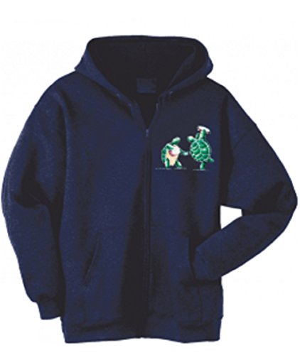 (Blue Mountain Dyes LLC Grateful Dead Hooded Sweatshirt Terrapins Zip up Hoodie (XXX-Large) Navy)