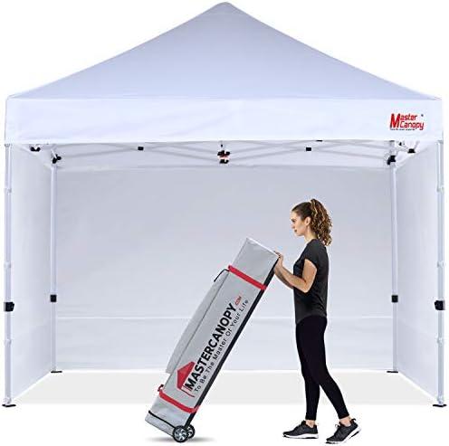 MASTERCANOPY Ez Pop-up Canopy Tent 8×8 Commercial Instant Canopies