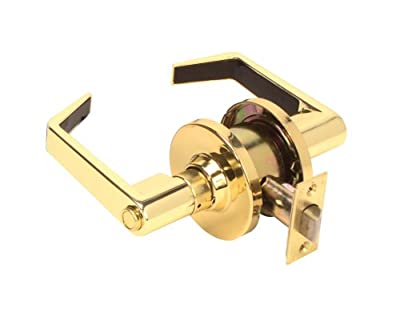 Legend 809257 Grade 2 Commercial Duty, Privacy Bed and Bath Leverset Lockset, ADA, US3 Polished Brass Finish